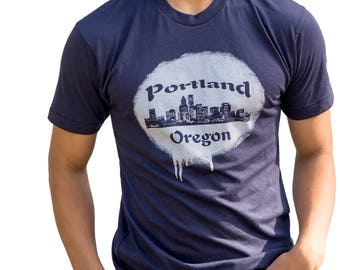 Portland skyline - Soft lightweight T shirt - Oregon Hometown pride tees