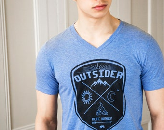 Outsider | Soft Lightweight T Shirt | Crew and V-neck | Pacific Northwest Tshirt.