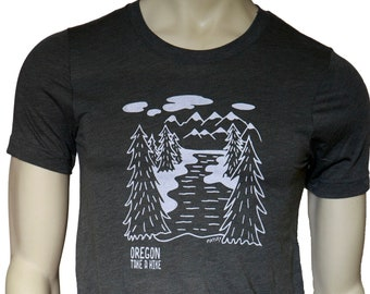 TAKE A HIKE  | Soft Lightweight T Shirt | unisex crew and V-neck | Oregon hometown tees