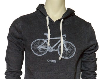 Bicycle Infinity miles per-gallon  | Soft classic pullover hoodie | Unisex | Infinite MPG