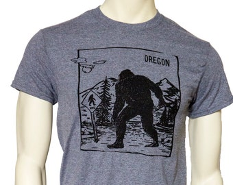 Tall Tshirt | Oregon Bigfoot Xing | Men's classic T shirt | Sasquatch crossing sign | Size up to 3X Tall