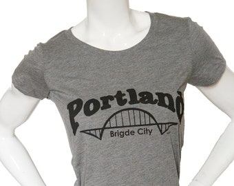 Bridge City | Portland | Soft Lightweight T Shirt | Slim fit | scoop & V-Neck | Fremont bridge