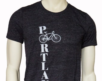 Bike Portland - Soft  Lightweight T Shirt - Travel Tees - Crew & V-Neck.