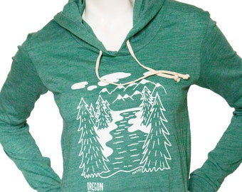 Take a hike | Lightweight pullover hoodie | Oregon trail | Soft organic cotton blend