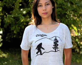 Oregon Bigfoot | Relax fit t shirt | Sasquatch | Soft lightweight Flowy tee