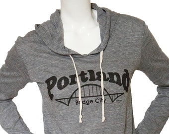 Bridge City | Lightweight Soft pullover hoodie | Portland bridge | Fremont.