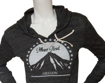 Mt. Hood Oregon - Lightweight pullover hoodie - soft organic cotton blend - Travel tees - Hometown