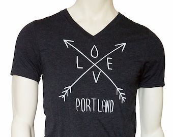 Arrows - Soft Lightweight T Shirt - Love Portland - Fitted tee crew and V-Neck
