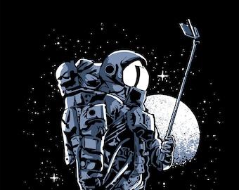 Astronaut | Men's classic T Shirt | Selfie astronaut | Up to size 5XL