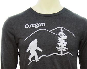 Oregon Bigfoot | Long sleeve T shirt | Sasquatch | soft lightweight | Oregon T shirts | Unisex sizes