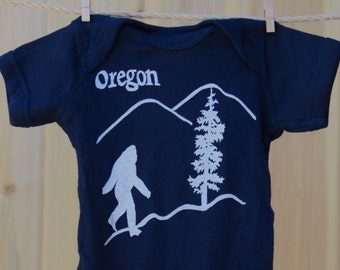 Oregon Bigfoot - Sasquatch - Baby jumper - Infant Bodysuit - Baby Shower - Pacific Nortwest Bigfoot