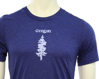 Fir Tree | Soft  Lightweight T Shirt | Unisex Fitted cut | Oregon travel tee | Hometown t shirt | crew and V neck