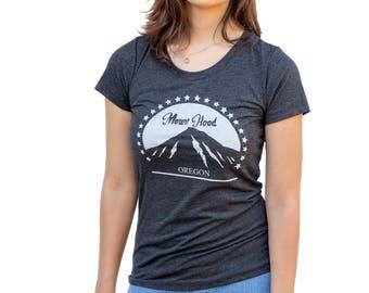 Mount Hood Oregon - Soft Lightweight T Shirt - Slim Fit