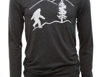Oregon Bigfoot | Men's long sleeve T shirt | sasquatch | soft lightweight | Oregon T shirts