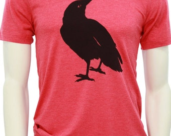 Crow | Soft Lightweight T-shirt | Unisex fitted cut | crew and V-neck