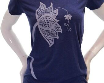 Lotus flower | Slim Fit T Shirt | Women's soft lightweight Tee | Scoop & V neck | Zen | Sizes S - XXL