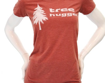 Tree Hugger | Women's slim fit T Shirt | Soft & Lightweight | Zen |Sizes S - XXL