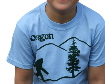 Oregon Bigfoot | Toddler and Youth T shirt | Sasquatch | Soft T shirt | Hometown tees