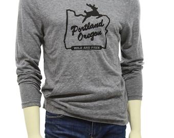 Portland Oregon wild and free | Unisex lightweight soft organic cotton blend