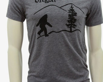 Oregon Bigfoot - Soft Lightweight T Shirt - Sasquatch - Crew & V-neck