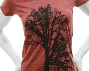 Oak Tree | Women's soft lightweight T shirt | Slim fit in scoop & V neck