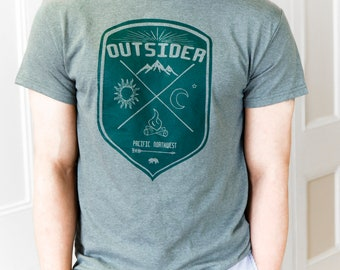 Outsider | Men's classic T Shirt | Hometown t shirt | Pacific northwest | Travel tees