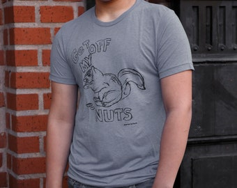 Squirrel - Get off my nuts | Classic men's T Shirt |  sizes up to 4 XL | Funny Tshirts