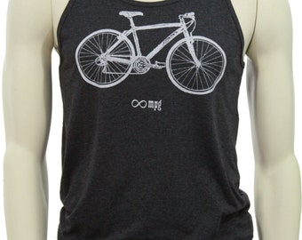 Bicycle | Soft Lightweight tank top | Infinite MPG | Gift for him and her | Unisex tank top