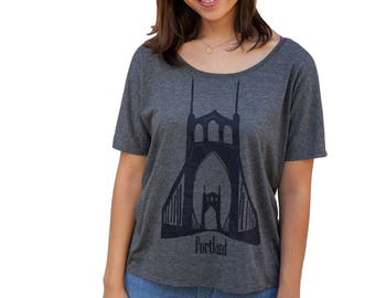 St. Johns Bridge Portland OR | Relax fit tshirt | Travel tees