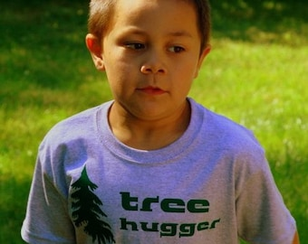 Tree hugger Tshirts | Soft-style youth t shirt | Children tees.