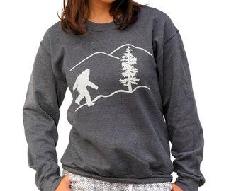 Bigfoot | Crew neck Sweatshirt | Unisex Jumper | Sachquatch | classic sweatshirt | Sizes XS - 3XL