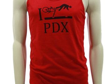 Bicycle | Soft Lightweight Tank Top | I bike PDX | crash PDX | Portland Oregon