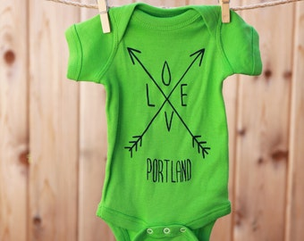 Arrows | Baby bodysuit | Love Portland | baby jumper