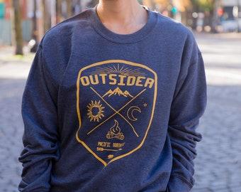 Outsider - Pacific Nortwest | Crew neck Sweatshirt | Unisex Jumper | PNW sweatshirt | Mountains | Sizes XS - XXXL
