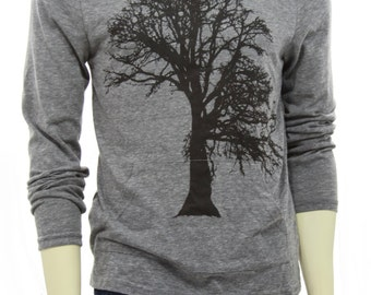 Oak tree | Lightweight hoodie | soft organic cotton blend | Hooded long sleeve tshirt