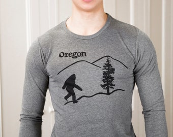 Oregon Bigfoot | Long sleeve T shirt | Sasquatch | soft lightweight | Oregon T shirts | Unisex sizes