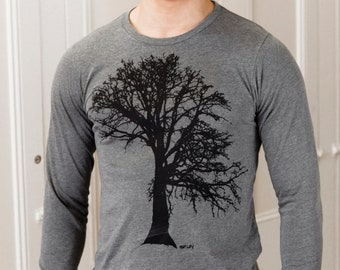 Oak Tree | Long Sleeve T Shirt | Soft lightweight | Unisex sizes | Tree of life |