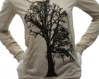 Oak Tree   Soft Lightweight pullover hoodie   organic cotton blend