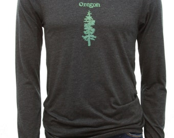 Oregon Fir | Long sleeve T shirt | Soft and lightweight T shirt | Hometown graphic tees.