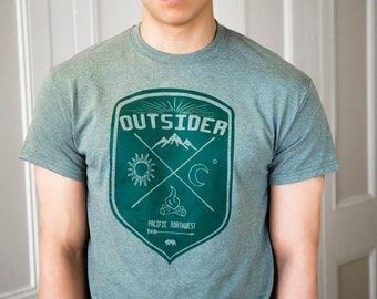 Outsider | Men's classic T Shirt | Hometown t shirt | Pacific nortwest | Travel tees| sizes up to 5XL