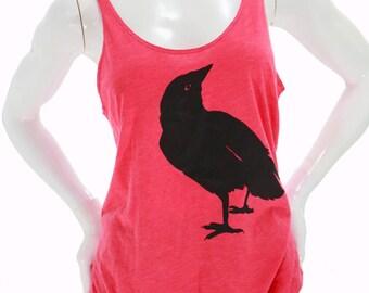 Crow bird | Soft lightweight tanktop | Relax fit | Nevermore