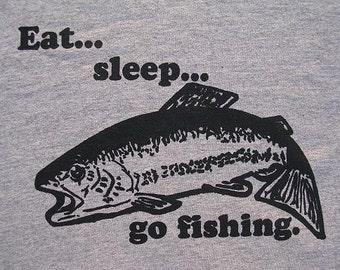 Eat, Sleep, Go Fishing | Men's classic T Shirt | up to 5XL