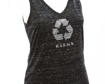Karma | Soft Lightweight tank top | What goes around comes around | Zen | V neck tank top