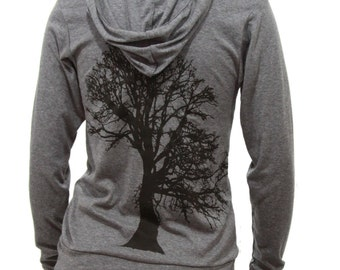 Oak Tree | Lightweight full zip hoodie | Unisex sizing | Soft | Tree of life