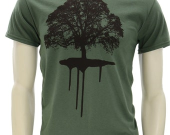 Oak tree | Men's classic T Shirt | Dripping Roots | Sizes up to 5XL