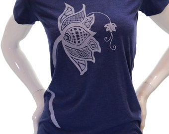 Lotus flower | Fitted T Shirt | Women's soft Tee | Scoop & V neck