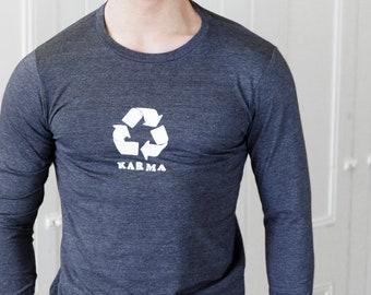 Karma | Long Sleeve T Shirt | Soft lightweight | Unisex sizes  | Zen