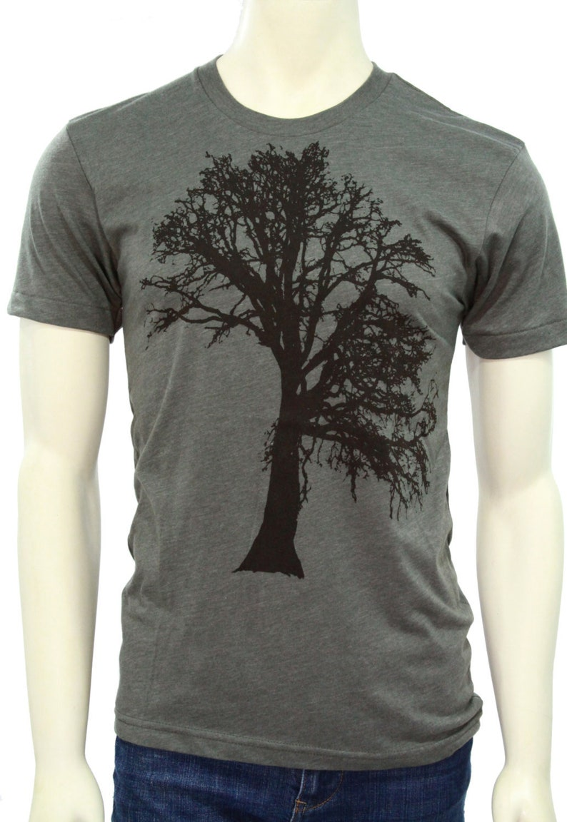 Oak Tree  Soft lightweight T Shirt  All sizes up to 3XL Htr.Mil green
