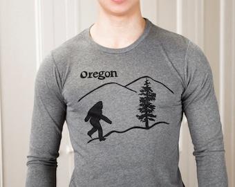 Oregon Bigfoot | Long sleeve T shirt | Sasquatch | soft lightweight | Oregon T shirts | Unisex sizes XS - 3XL