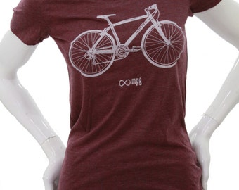 Bicycle - Soft Lightweight t shirt - Slim fit in scoop and Vneck